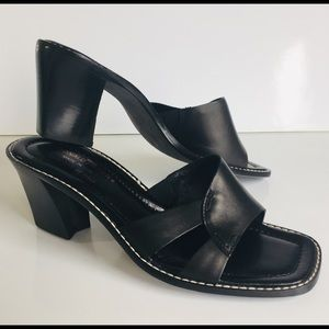 Donald J. Pliner Leather Block Heel Sandals 8 M